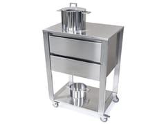 Modulo cucina freestanding in acciaio inox con cassetti667702 | Modulo cucina freestanding - JOKODOMUS