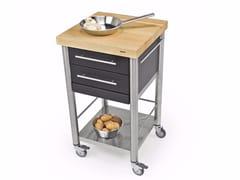 Modulo cucina freestanding in acciaio inox e legno688502 | Modulo cucina freestanding - JOKODOMUS