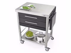 Modulo cucina freestanding in acciaio inox con cassetti689702 | Modulo cucina freestanding - JOKODOMUS