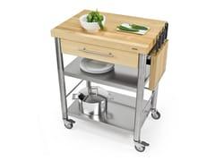 Modulo cucina freestanding in acciaio inox e legno692701 | Modulo cucina freestanding - JOKODOMUS
