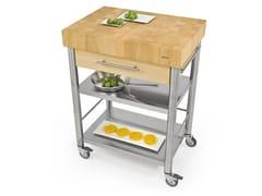 Modulo cucina freestanding in acciaio inox e legno693701 | Modulo cucina freestanding - JOKODOMUS