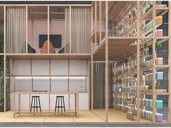 Sistema modulare componibile in legno per zona giorno6x6 - LIVING / KITCHEN - CESARE ROVERSI