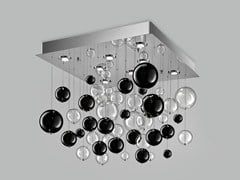 - Blown glass ceiling lamp BOLERO 80x80 - Metal Lux di Baccega R. & C.