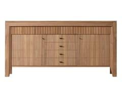 - Walnut sideboard with doors SCACCHI | Walnut sideboard - Morelato
