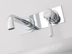 - Wall-mounted single handle washbasin mixer with plate 900 | Wall-mounted washbasin mixer - ZAZZERI