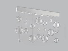 - Blown glass ceiling lamp BOLERO 98x9 - Metal Lux di Baccega R. & C.