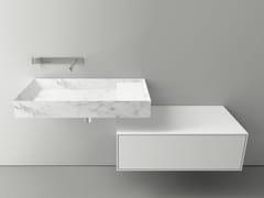 - Single wall-mounted Carrara marble washbasin A45 STONE - Boffi
