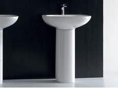 - Pedestal ceramic washbasin ABC | Pedestal washbasin - Hidra Ceramica
