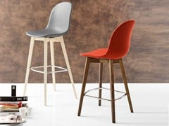 - Counter stool with footrest ACADEMY W | Counter stool - Calligaris