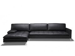 - Sectional leather sofa with chaise longue ADONIS SECTIONAL - Canapés Duvivier
