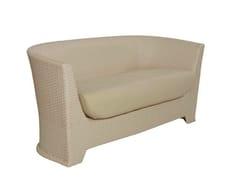 - Upholstered 2 seater garden sofa AGORÀ | Sofa - Atmosphera