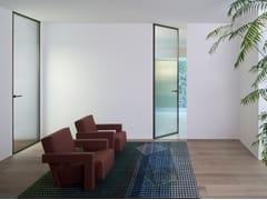 Porta a battente a filo muro in cristalloALADIN DUO SWING PLAIN - GLAS ITALIA