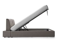 - Double bed with adjustable headrest ALAMEDA | Storage bed - Calligaris