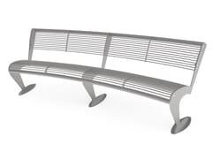 Panchina curva in acciaio con schienaleALBATROS   Panchina curva - CITY DESIGN
