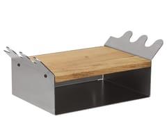 Mobile da ingresso in acciaio e legnoALCES - DESIGNIMDORF