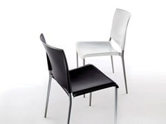 - Stackable imitation leather chair ALEXA | Stackable chair - REXITE