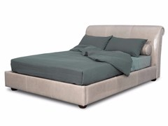 - Upholstered leather double bed ALFRED | Bed - BAXTER