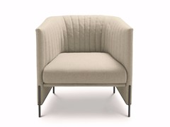 - Upholstered armchair with quilted fabric cover ALGON | Fabric armchair - arflex