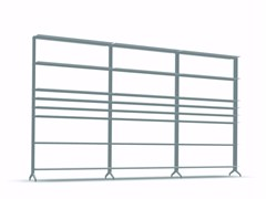 - Open modular aluminium bookcase ALINE - J02 - Alias