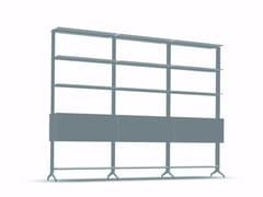 - Open modular aluminium bookcase ALINE - J04 - Alias