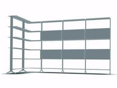 - Open modular aluminium bookcase ALINE - J06 - Alias