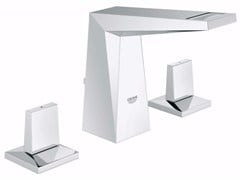 - Countertop washbasin tap with pop up waste ALLURE BRILLIANT SIZE S | 3 hole washbasin tap - Grohe