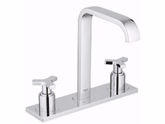 - 3 hole countertop washbasin tap ALLURE SIZE M | Washbasin tap with plate - Grohe