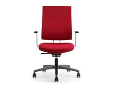 - Fabric task chair with 5-Spoke base with armrests with casters ALLY 1720 - TALIN