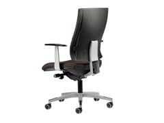 - Fabric task chair with 5-Spoke base with armrests with casters ALLY 1727 - TALIN