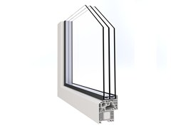 Finestra a battente a taglio termico in PVC con triplo vetroALPHA LUCE - ALPHACAN