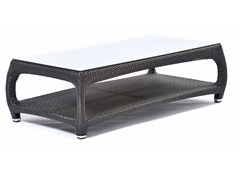 - Rectangular coffee table with glass top ALTEA | Rectangular coffee table - Varaschin