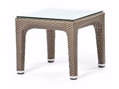- Square coffee table with glass top ALTEA | Coffee table - Varaschin