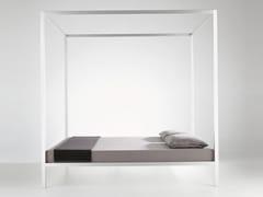 - Aluminium double bed ALUMINIUM BED | Canopy bed - MDF Italia