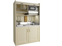 - Mini kitchen with tambour doors AMARCORD K116 - MOBILSPAZIO Contract