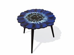 - Beech wood and HPL side table ANEMONE M - Bazartherapy