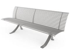 Panchina in acciaio con schienaleANGEL   Panchina con schienale - CITY DESIGN