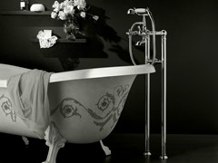 - Floor standing bathtub tap with hand shower ANTICA | Floor standing bathtub tap - Signorini Rubinetterie