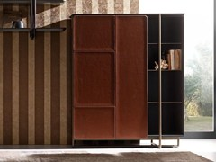 - Leather highboard with doors APOTEMA | Highboard - Esedra by Prospettive