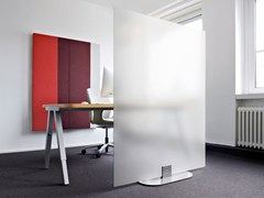 Pannello divisorio fonoassorbente free standing ARCHITECTS GLASS GROUND - ACOUSTICPEARLS