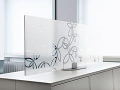 Pannello divisorio da scrivania in vetro temperatoARCHITECTS GLASS DESKTOP - ACOUSTICPEARLS