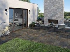 Pavimento/rivestimento in gres porcellanato effetto pietra per interni ed esterniARDESIE - CERAMICA RONDINE