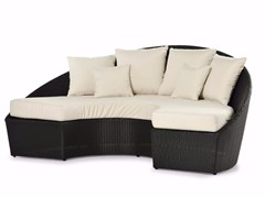 - Semicircular sofa with synthetic fiber weaving ARENA | Garden sofa - Varaschin