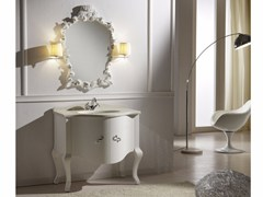 - Lacquered wooden vanity unit with doors with mirror ARGO CM14CY - LA BUSSOLA
