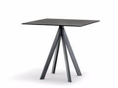 Tavolo da giardino quadrato in acciaioARKI-BASE ARK4 - PEDRALI