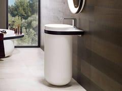 - Round pedestal Krion® washbasin ARO | Pedestal washbasin - Systempool