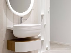- Wall-mounted Krion® washbasin ARO   Krion® washbasin - Systempool