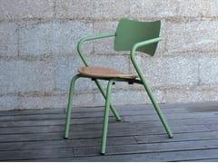Sedia da giardino impilabile in metallo con braccioliARPA - ADICO