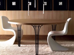- Round wooden table ARTÙ | Round table - Esedra by Prospettive