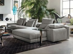 - Fabric sofa with chaise longue ATLAS | Sofa with chaise longue - Arketipo