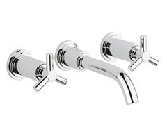 - 3 hole washbasin tap without waste ATRIO CLASSIC YPSILON SIZE S | Wall-mounted washbasin tap - Grohe